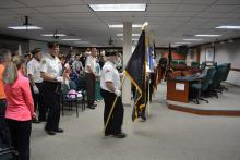 Colors at Muskego Police Awards Ceremony